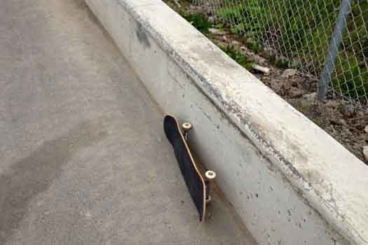 The Skateboard Ledge is found in the streets