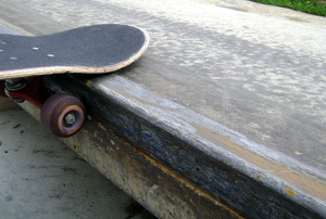 skateboard waxed ledge